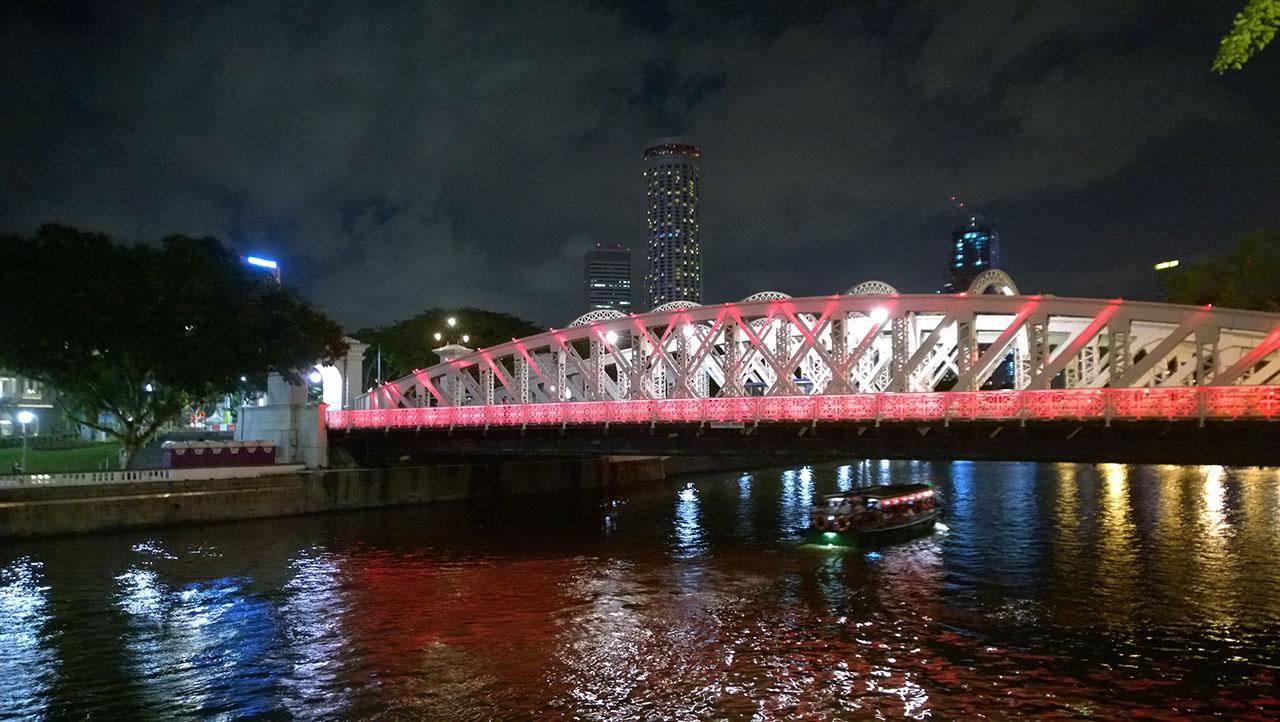 สะพานแถวๆคลาร์กคีย์ สีชมพูสวยมาก